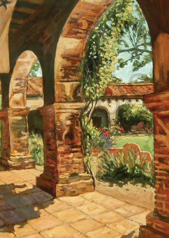 Mission Courtyard Art   Geoffrey Butz Art & Design Inc