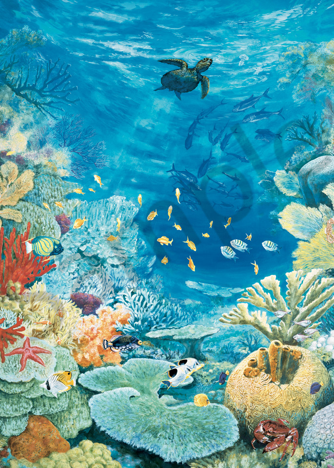 Turtle Reef | Murals in Classical Style | Gordon Meggison IV