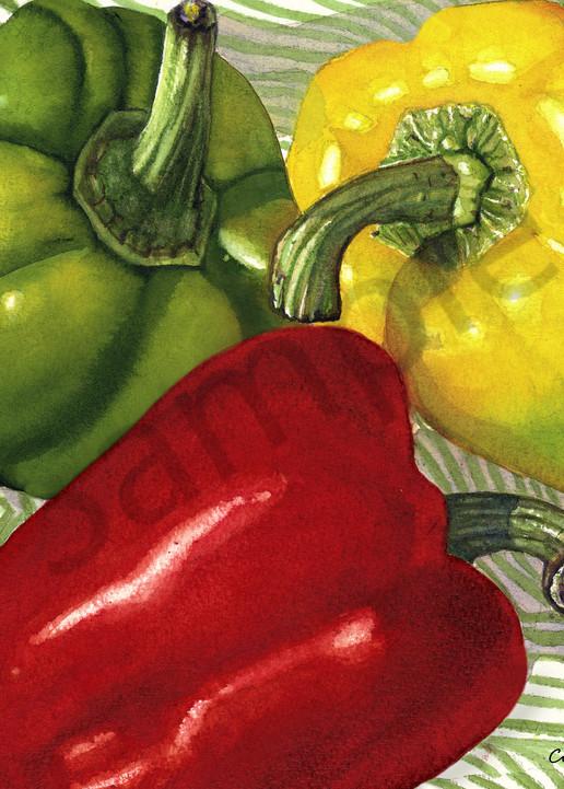 Farmer's Market Peppers Art | ColleenNashBecht