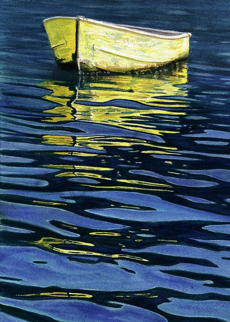 Yellow Boat Art | ColleenNashBecht