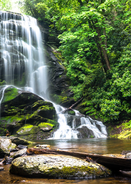 Blue Ridge Mountain Waterfall Photograph for Sale as Fine Art
