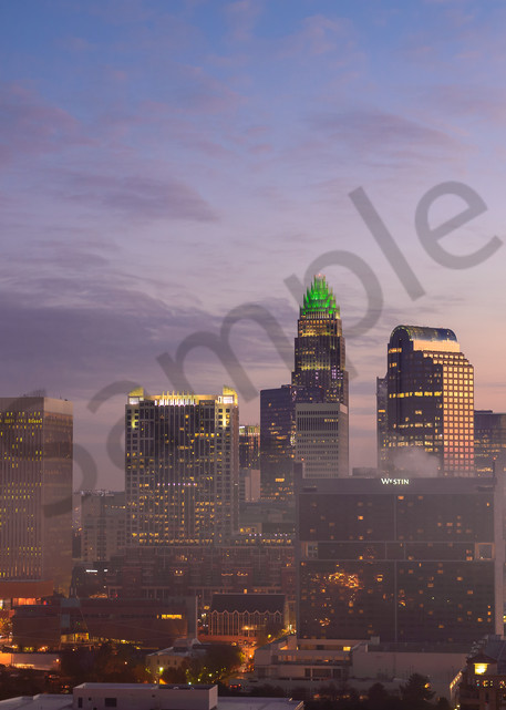 Morning Charlotte Skyline Photograph for Sale as Fine Art