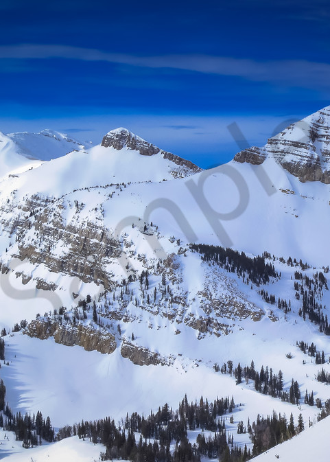 Grand Teton Winter Snow Photograph for Sale as Fine Art