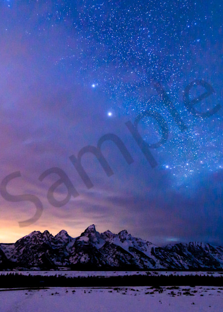 Grand Teton National Park Under The Stars Photograph for Sale as Fine Art