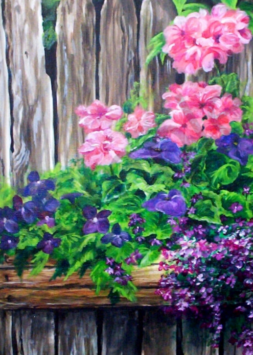 """Barnwood Flower Box"" by Gina Harding   Prophetics Gallery"
