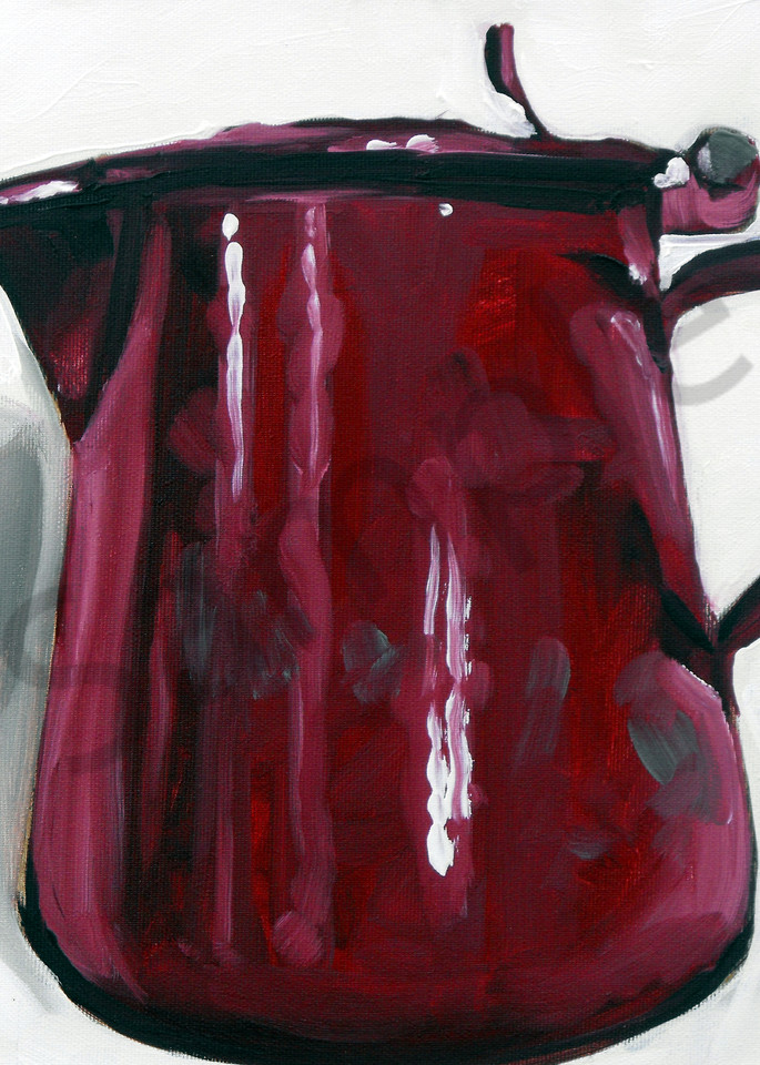 """""""Cherry Red Tin Pot"""" by Andrei  