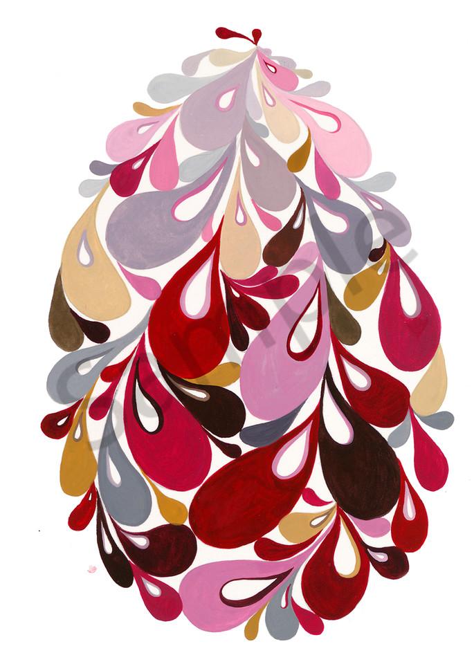 Swirl Egg (Pink) Art | Cynthia Mosser Fine Art