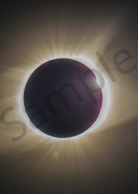 Total Eclipse captured a split second following Totality - Photography Fine Art Prints - JP Sullivan Photography, Inc.