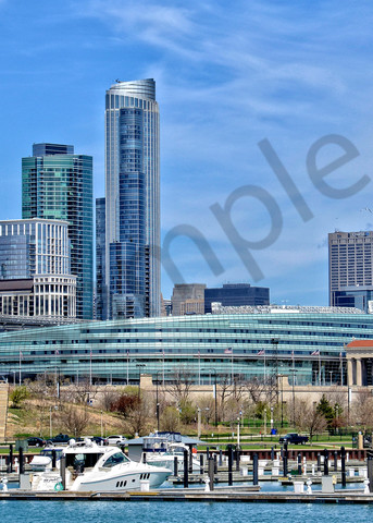 Panoramic View of Chicago Soldier Field and City Scape - Fine Art Photography - JP Sullivan Photography