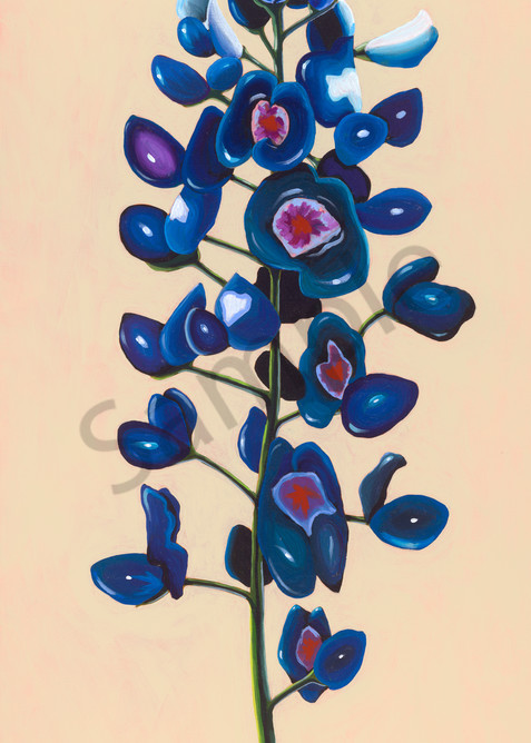 Original painting of a Texas bluebonnet flower for sale as art prints.