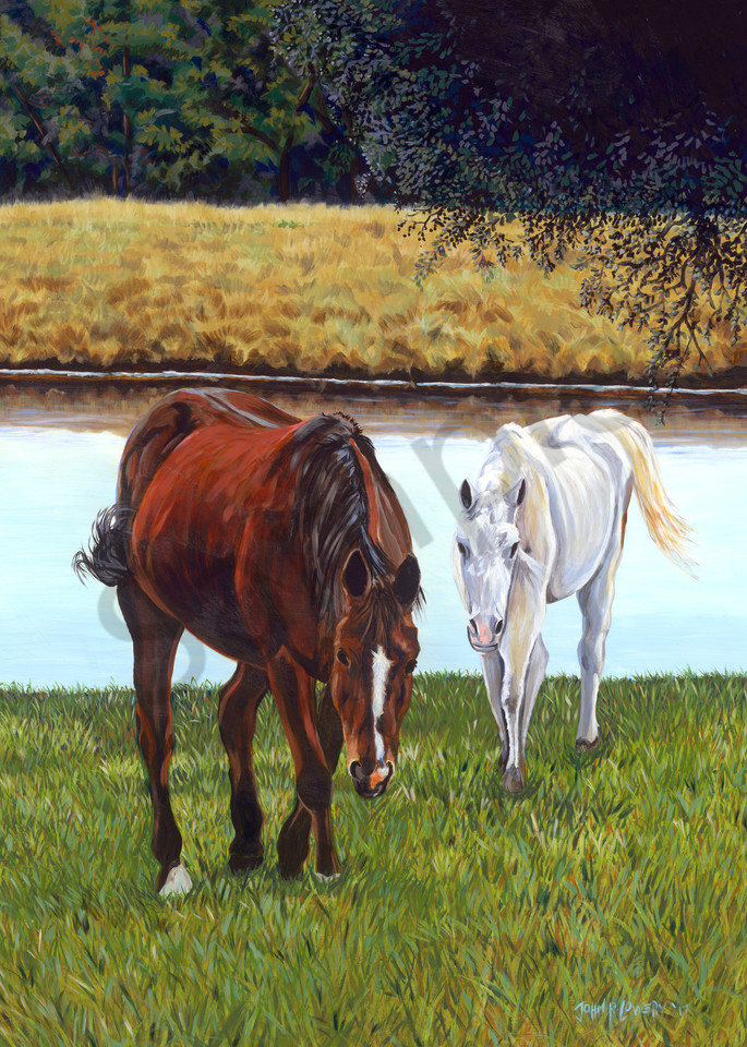Paintings of horses and Texas landscapes by John R. Lowery,  sold as art prints.