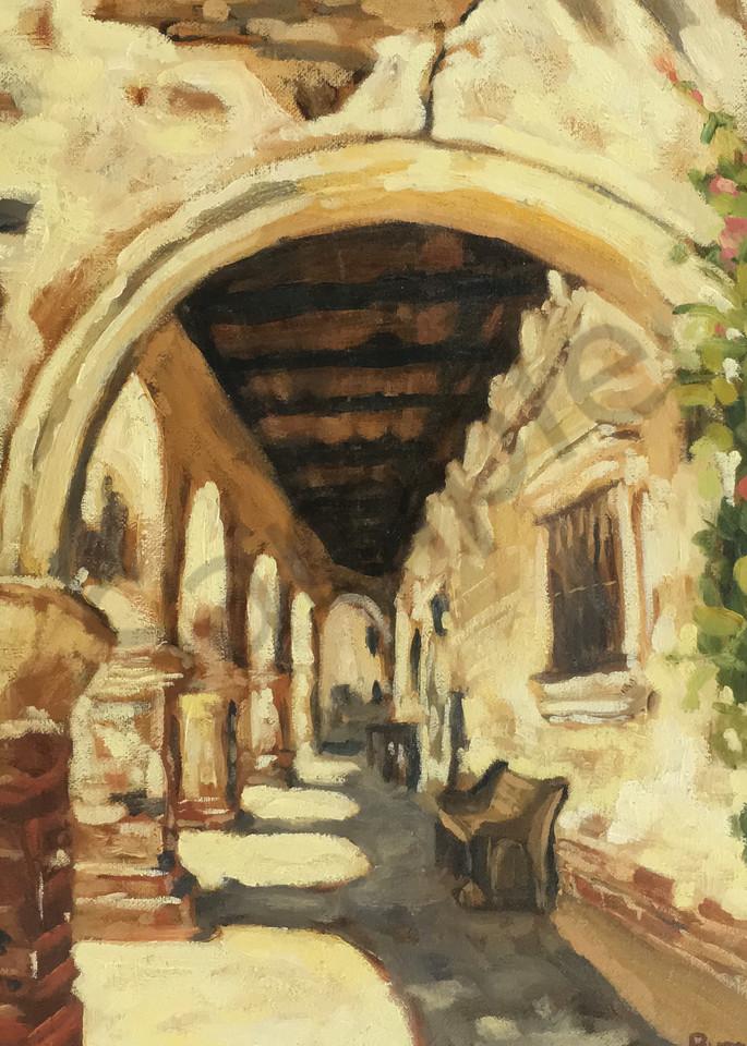 Ruin Corridor In Warm Light 2 Art   Geoffrey Butz Art & Design Inc