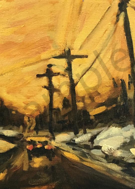 Morning Winter Sunrise On Main Art   Geoffrey Butz Art & Design Inc