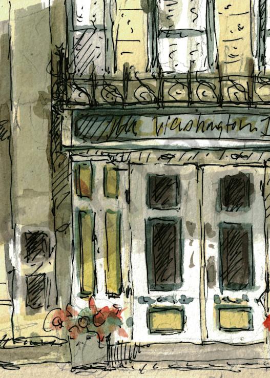 Washington House Inn Sketch Art | Geoffrey Butz Art & Design Inc