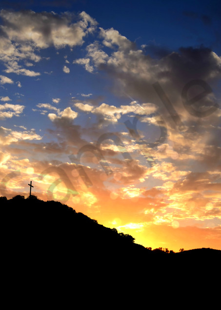 Cross on a Hill - Easter Morning