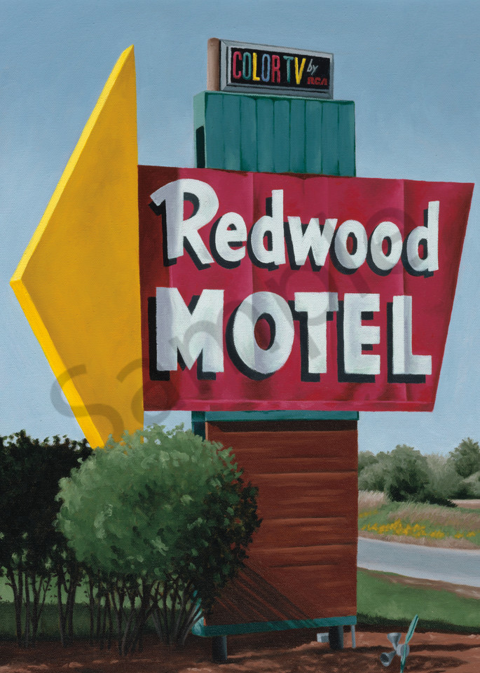 Roadside Attraction   Nostalgic Motel Sign   US Hwy 14 Wisconsin