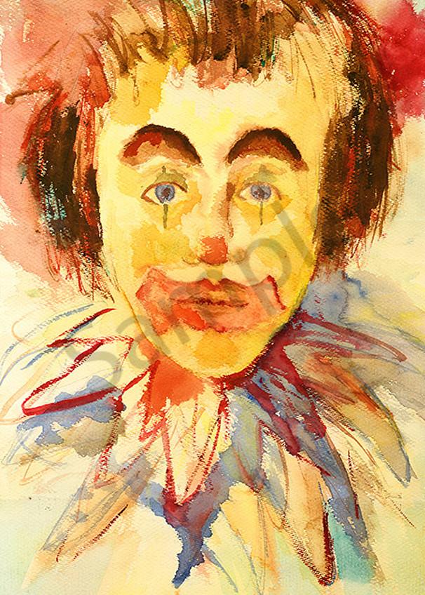 Clown print by Mary Anne Hill.