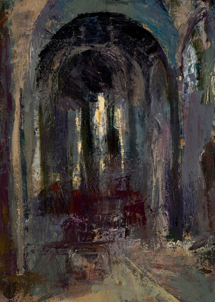 San Francesco architecture painting by Michelle Arnold Paine