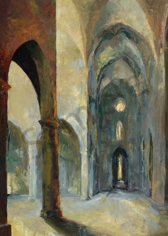 Santa Croce Florence Painting by Michelle Arnold Paine