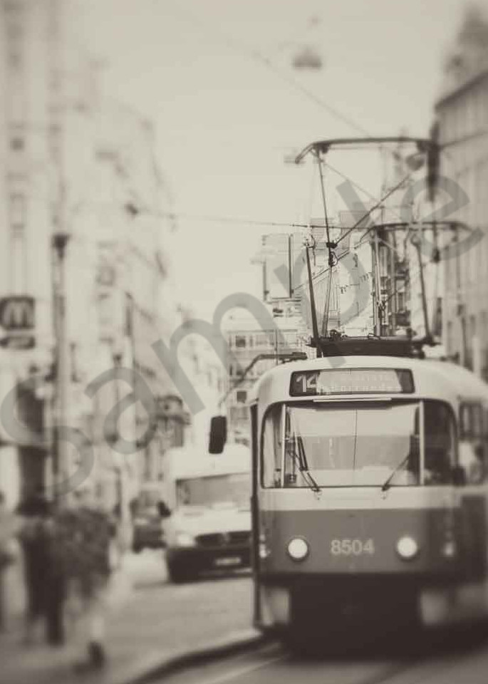 Old tram car photograph in Prague by Ivy Ho for sale as Fine Art.