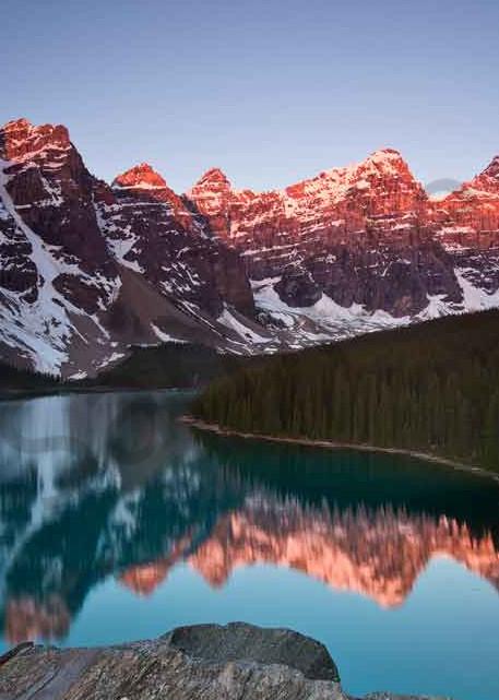 Moraine Lake sunrise photograph by Ivy Ho for sale as Fine Art