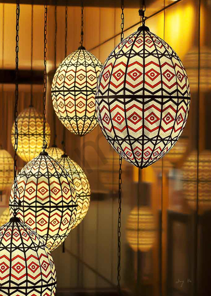 Fine art photograph of Moroccan lanterns by Ivy Ho.