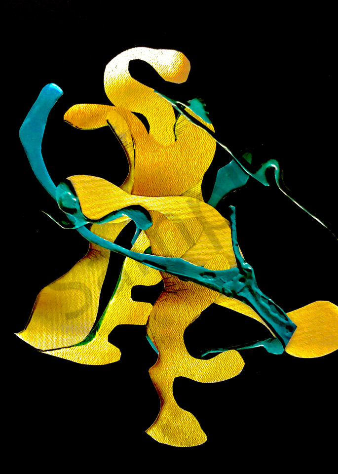Odeta Xheka Visuals   Biomorphic contemporary art collage