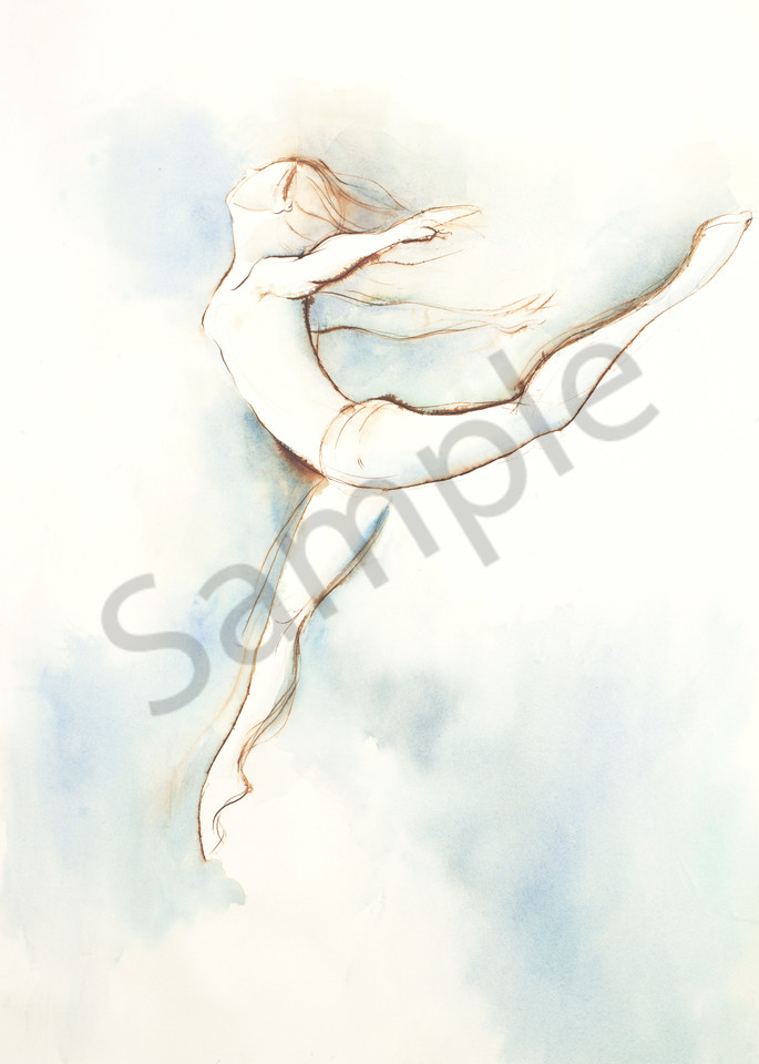 Leaping Dancer Art Print by Michelle Arnold Paine