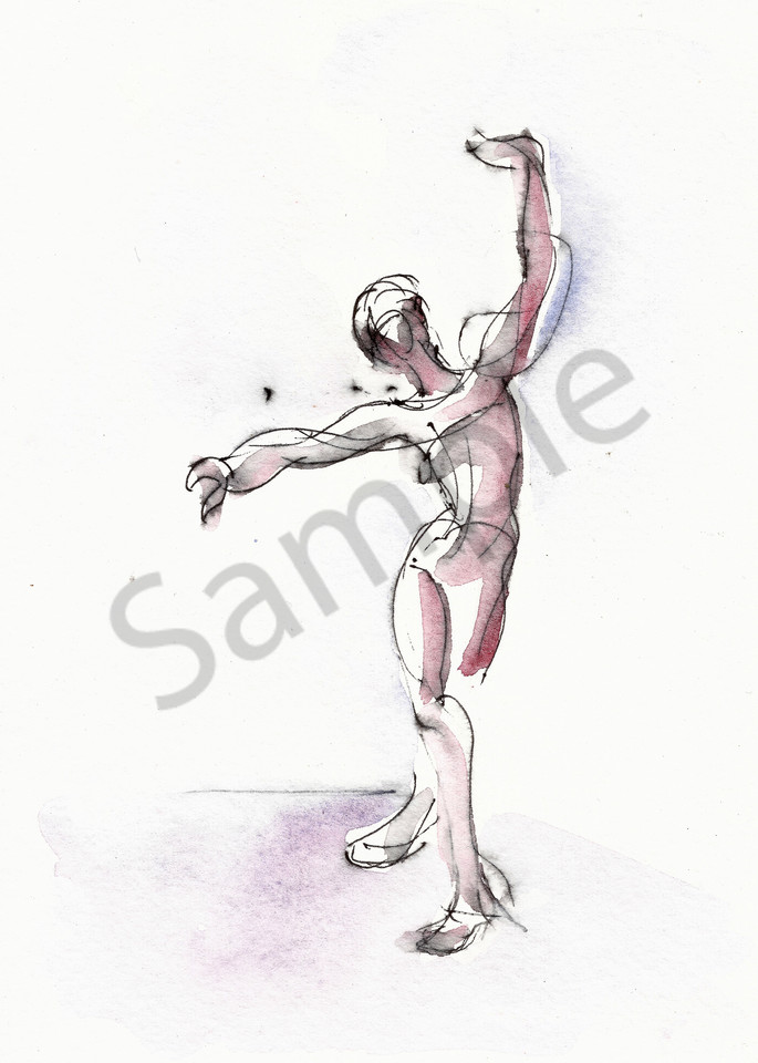 Dancer Drawing Print - Framing Available