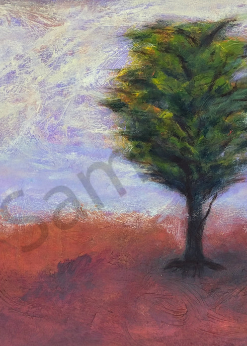 At Ease is an acrylic painted in muted evening colors. Art by Susan Kraft