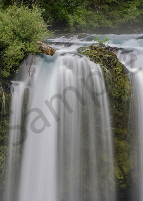 Aqua waters flow over Koosah Falls in this fine art photo by Barb Gonzalez Photography