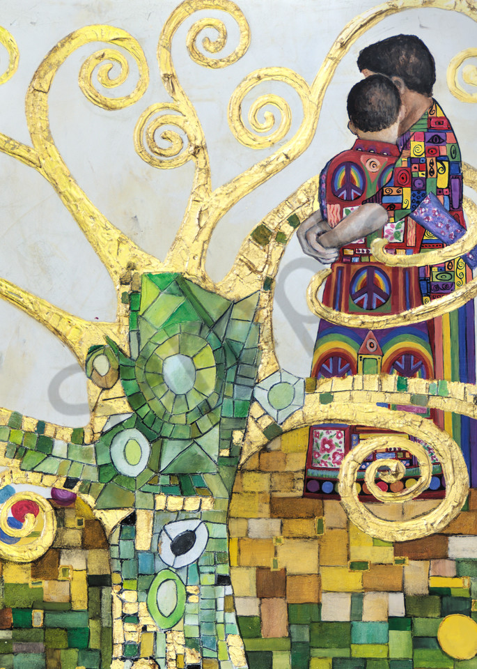 Designs by Teri   Teri Vereb Fine Art Paintings   Embracing Love Two   Klimt