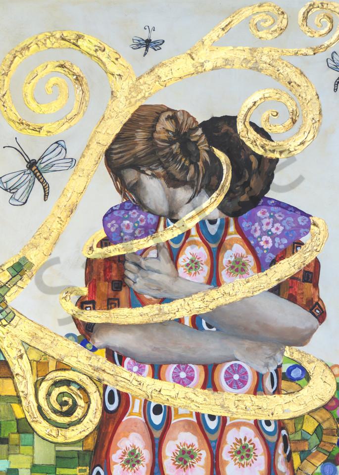 Designs by Teri | Teri Vereb Fine Art Paintings | Embracing Love Three | Klimt