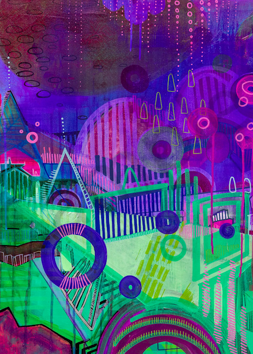 Sparkle Town Art | catherine-hart