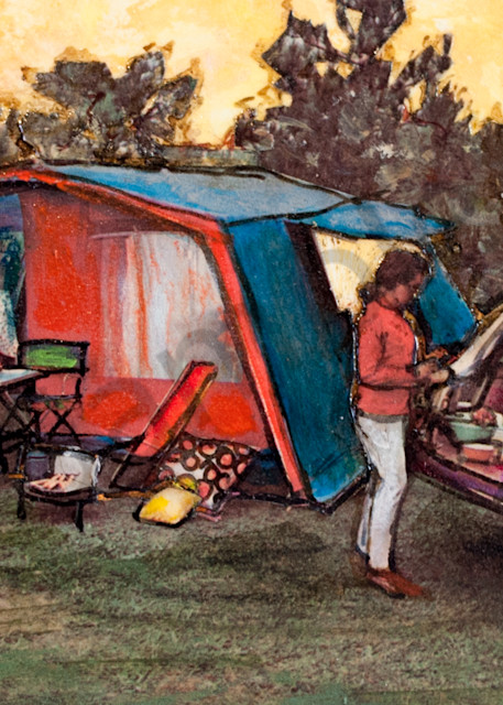Red And Blue Tent Art   Haley Litzinger