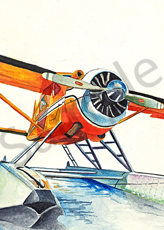 Orange Beaver fine art print by Emily Willey.