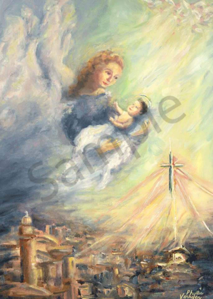 God's Gift of Love fine art print by Phyllis Verhyen,