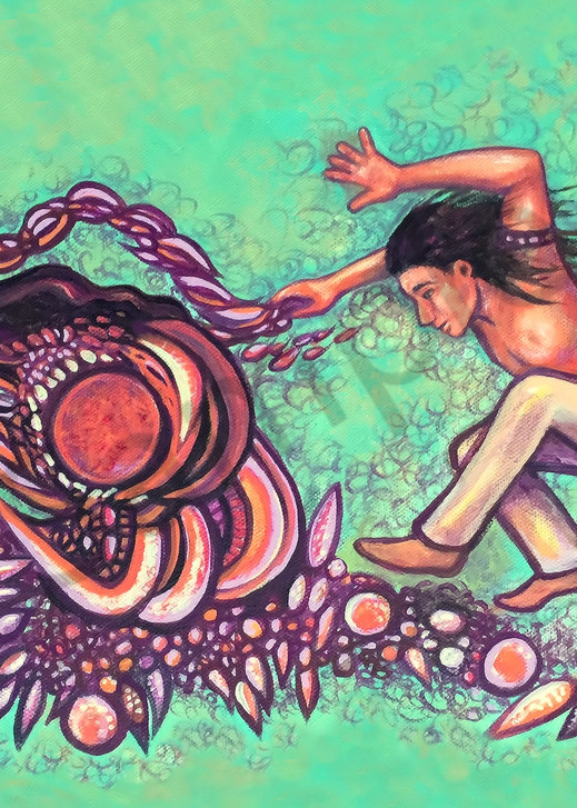 Tribal Passion - surrealistic native ceremony of dance art composition