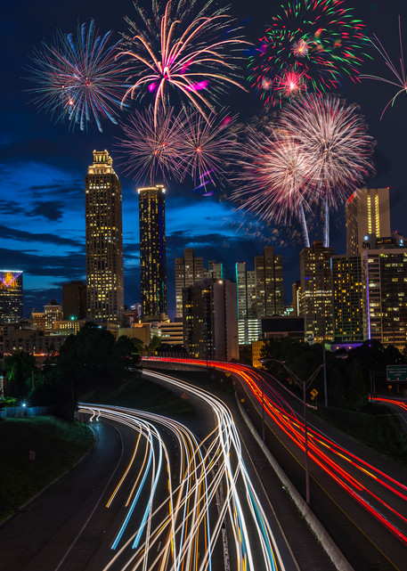 Fireworks at Jackson Street Bridge | Susan J | Atlanta