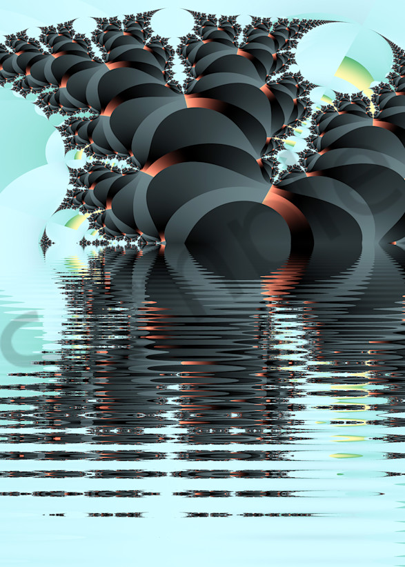 Ebony Fractal On The Water