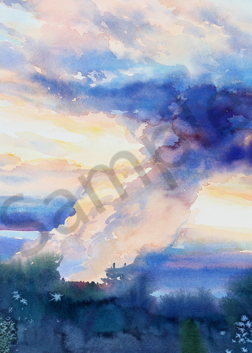 Irma's Coming | Watercolor Landscapes | Gordon Meggison IV