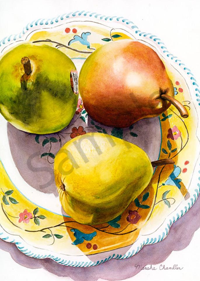 3 Pears And A Plate Art | Digital Arts Studio / Fine Art Marketplace