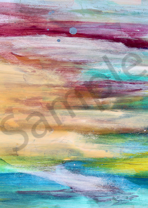 Abstract Acrylic painting with rainbow colours