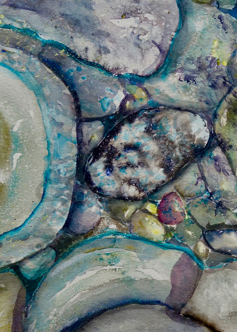 River Rock Triptych, Panel one