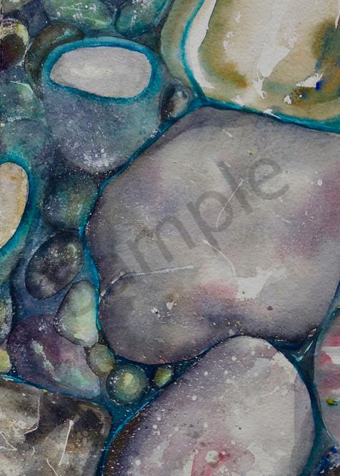 River Rock Triptych, panel 3