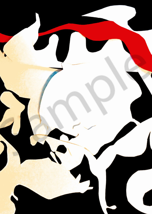 Odeta Xheka Visuals   Contemporary abstract collage art print