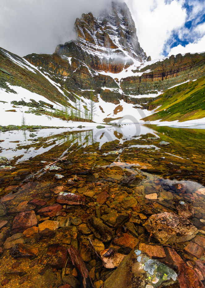 Temple and Temple Lake.|Banff|Banff national Park|Canadian Rockies|