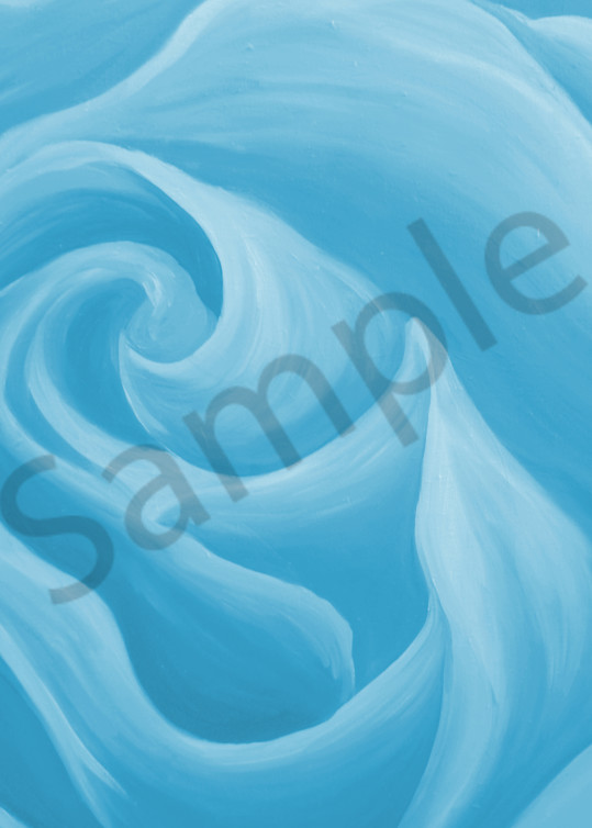 Sky Blue Rose Art   Art By Dana