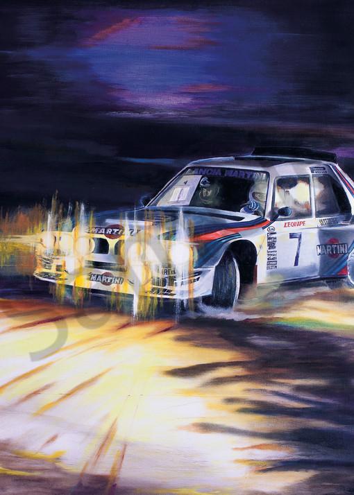 Temps la Lumière sur le Turini - Henri Toivinen - Lancia Delta S4.