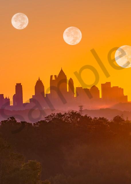 Sunrise Moonrise [Atlanta] | Susan J Photography